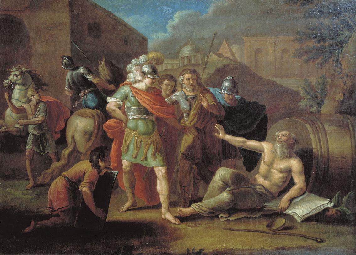 Беседа Диогена и Александра Македонского