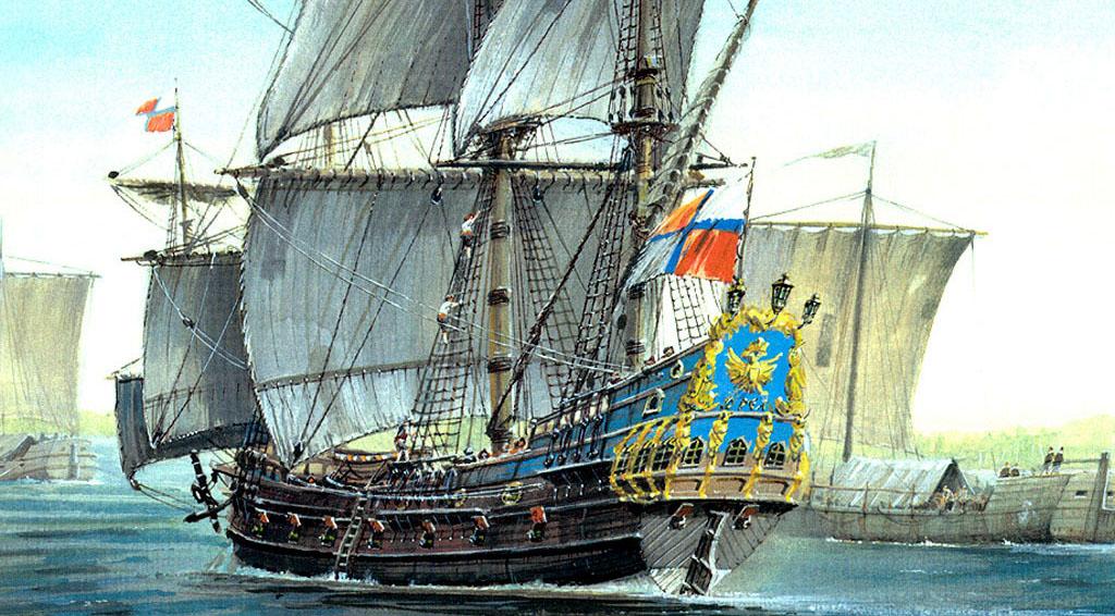 Корабль «Орел» иначало российского кораблестроения