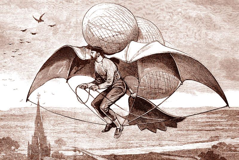 Человек летающий